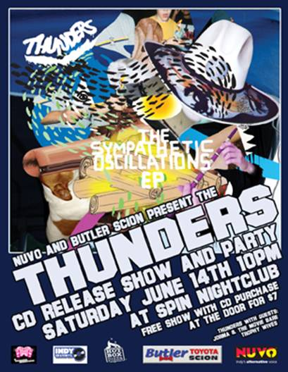 Thunders Release Show Flyer