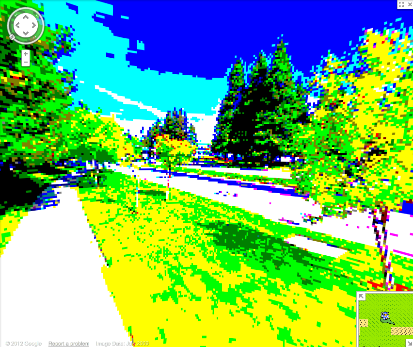 8 Bit Street View - Google Headquarters