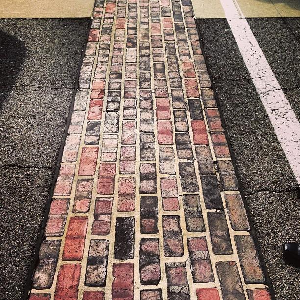 Yard of bricks.